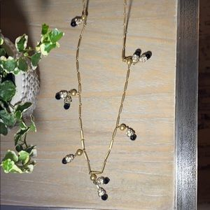 J. Crew Long Necklace with Hanging Embellishments